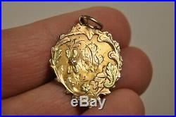 Medaille Pendentif Ancien Or Massif 18k Antique Medal Pendant Solid Gold 1919