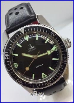 Mobtre Ancienne Vintage Watch Plongée Yema Skin Diver 330 Feet