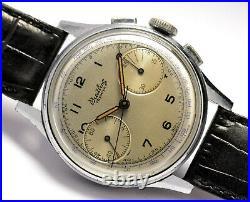 Montre Ancienne Chronographe Breitling 760 Venus 175 1950 Vintage Chronograph
