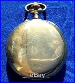 Montre Ancienne Regulateur A Complication Phase De Lune. Cadran Rose Fonctionne