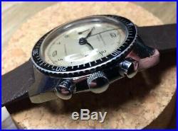 Montre Ancienne Vintage Chronograph Landeron Brevet + Suisse Plongée Diver Swiss