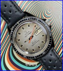 Montre Ancienne Vintage Watch Horlogerie Yema Super Navygraf 660 Feet Electronic