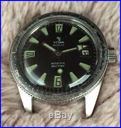 Montre Ancienne Vintage Watch Plongée Yema Diver Skin Automatic ETA Rare