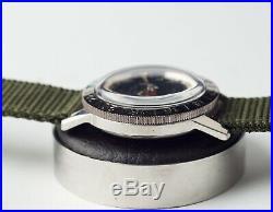Montre Ancienne Zodiac Aerospace Gmt Vintage Vietnam War Military Watch
