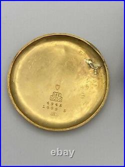 Montre Chronographe Ancienne ASTIN 1937 Landeron 47 Or 18k750 34.5mm Bi-ton