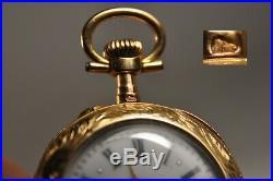 Montre De Col Ancien Or Massif 18k Antique Pocket Watch Solid Gold XIX