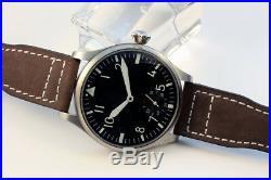 Montre Pilote type A Flieger Uhr mouvement ancien Unitas 6498 révisé