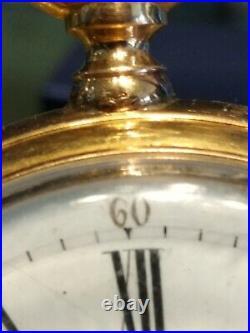 Montre a gousset ancienne en or signé
