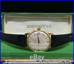 Montre ancienne ZENITH 1950 Vintage Swiss watch avec boite Manual Calatrava