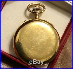 Montre gousset Chronographe ancienne AURICOSTE AURAL or 18k Pocket Watch 1920