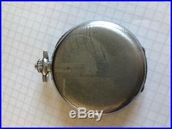 Montre gousset poche chronographe tachymètre ancien fonctionne