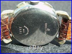 Montre homme ancienne mécanique rare chrono BREITLING incabloc révisée garantie