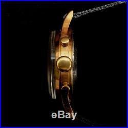 Montre mécanique ancienne select watch chronographe plaquée or venus 188