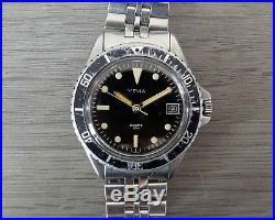 Montre plongée ancienne YEMA PARIS 40M quartz V7 055 6 + bracelet d'origine
