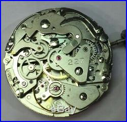 Mouvement Chrono Chronograph Montre Ancienne Vintage Watch Valjoux 7734