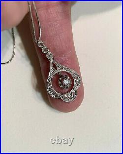 PENDENTIF ancien or 18K Diamants & Chaine / 18K gold Diamonds ancient PENDANT