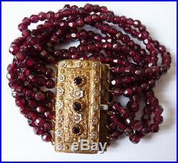 Paire de Bracelet 19e siècle bijou ancien Charles X pair of bracelet