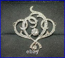 Pendentif Ancien Or Blanc Diamants