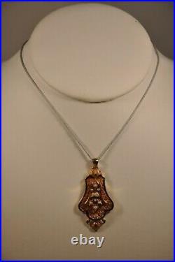 Pendentif Ancien Or Massif 18k Perles Antique Solid Gold Pearl Pendant
