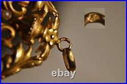 Pendentif Art Nouveau Ancien Or Massif 18k Antique Sold Gold Pendant