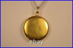 Pendentif Porte Photo Ancien Or Massif 18k Antique Solid Gold Photo Holder