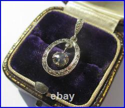 Pendentif ancien Art Déco français 1930 saphir fin or massif 18 carats gold 750