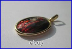 Pendentif ancien émail Limoges Thoumieux Fabiola Or 18 carats Gold charm 750