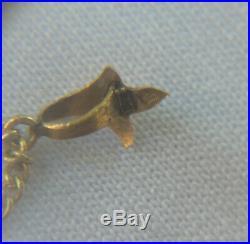 Pendentif ancien en or massif 18k poinçon tête d'aigle