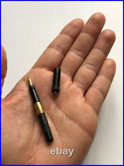 RARISSIME ancien STYLO PLUME MINIATURE MONTBLANC plume rentrante OR 14K