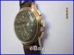 Rare & Ancienne Montre Chronographe Suisse Militaire roue à colonne vénus 170