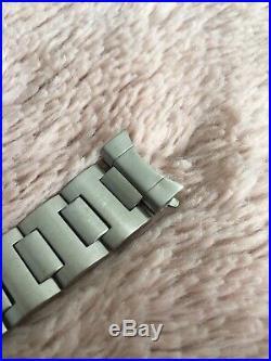 Rare Bracelet Acier Vintage Montre Ancienne Yema Acier 19mm Superman Complet