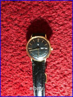 Rare Lip Automatic Ancienne Montre Bracelet Vers 1965 Homme 35 MM Pl. Or Vintage