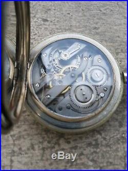 Regulateur Montre Gousset Ancienne Goliath 68 MM 1900 Old Pocket Watch Work