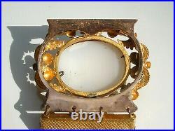 SUPERBE BRACELET ANCIEN début XIXème en Plaqué or avec CAMEE AGATE / Lg 17cm