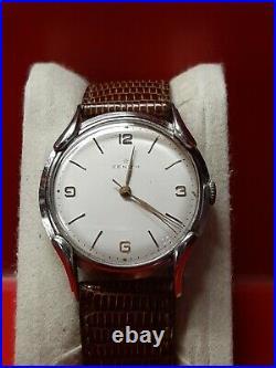 Splendide ancienne montre homme ZENITH acier TBE Fonctionne