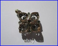 Splendide pendentif ancien XIXe pavé 41 diamants Or 18 carats et argent 8,5g