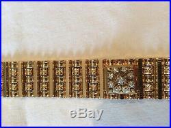 Superbe montre bracelet mystérieuse ancienne en or 18 carats et diamants