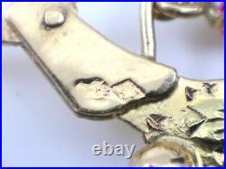 Superbes boucles d'oreilles creoles savoyardes anciennes en or 18k Savoie