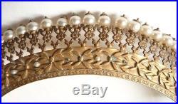 Tiare Peigne diadème 19e siècle comb tiara peineta bijou ancien couronne