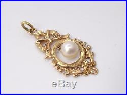 Très beau pendentif ancien en or 18k et perle Louis XVI