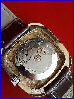 Très belle ancienne montre homme YEMA montre vintage pl Or TBE fonctionne 37mm