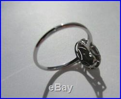 Très belle bague ancienne Art Déco Diamants Or blanc 18 carats 750