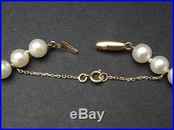 Très joli collier ancien perle de culture et Tahiti fermoir or 18K