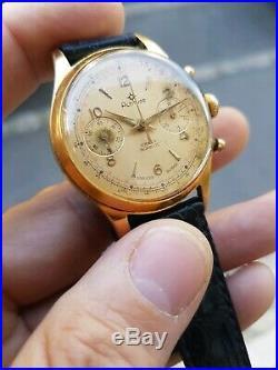 Venus 188 Chronograph Ancien Swiss 1960 Vintage Homme 36 MM Montre A Revoir
