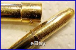 Yves Saint Laurent Rare stylo BILLE ancien plaqué or, numéroté